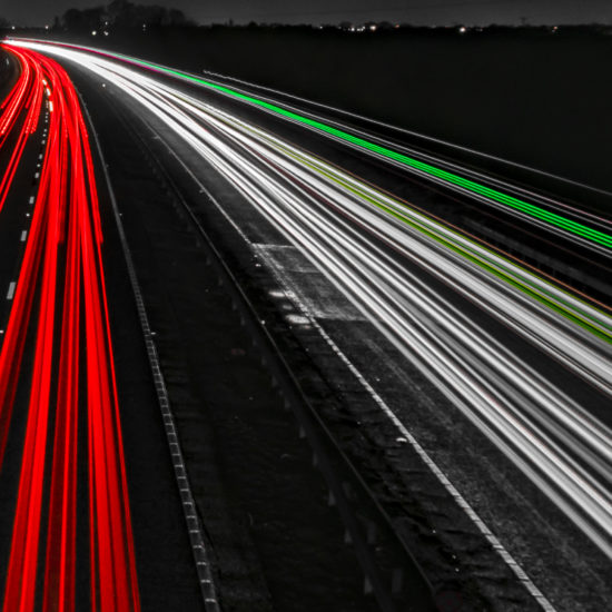 A19 Light Trails