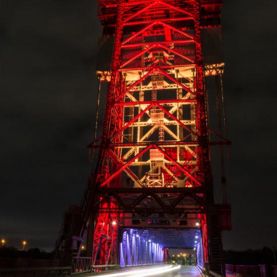 Newport Bridge Illuminated