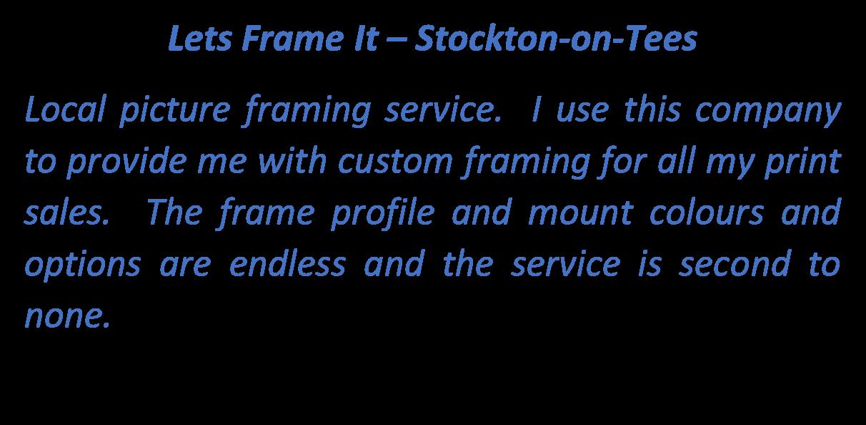 Lets Frame It Logo Text Box